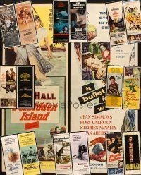 3g051 LOT OF 18 UNFOLDED & FORMERLY FOLDED INSERTS '50s-80s great images from a variety of movies