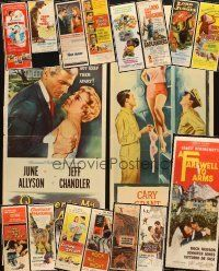 3g052 LOT OF 17 FORMERLY FOLDED INSERTS '50s great images from a variety of movies!