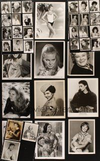 3g089 LOT OF 39 8x10 PORTRAIT STILLS OF FEMALE STARS '50s-80s sexy actresses & much more!