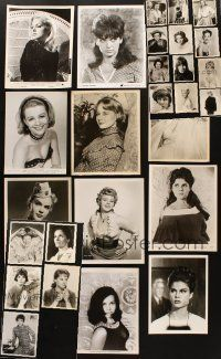 3g092 LOT OF 29 8x10 PORTRAIT STILLS OF FEMALE STARS '40s-60s pretty leading ladies & more!