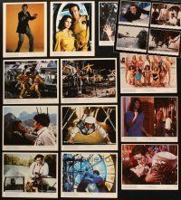 3g100 LOT OF 16 COLOR 8x10 STILLS FROM MOONRAKER & OCTOPUSSY '70s-80s Roger Moore as James Bond!