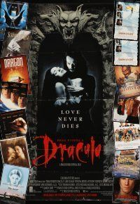 3g124 LOT OF 15 FORMERLY FOLDED & UNFOLDED VIDEO POSTERS '90s Bram Stoker's Dracula & many more!