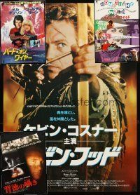 3g129 LOT OF 4 UNFOLDED JAPANESE B2 POSTERS '86 - '91 Robin Hood Prince of Thieves & more!