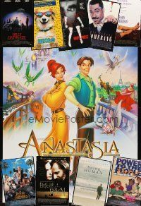3g132 LOT OF 31 UNFOLDED DOUBLE-SIDED ONE-SHEETS '90 - '97 Anastasia, Beverly Hillbillies & more!