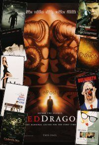 3g136 LOT OF 27 UNFOLDED DOUBLE-SIDED ONE-SHEETS '94 - '06 Red Dragon, The Passion & more!