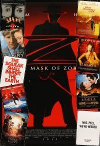 3g137 LOT OF 26 UNFOLDED DOUBLE-SIDED ONE-SHEETS '91 - '98 Mask of Zorro, Scream 2 & more!