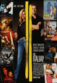 3g144 LOT OF 18 UNFOLDED DOUBLE-SIDED ONE-SHEETS '00 - '03 Italian Job, Swordfish & more!