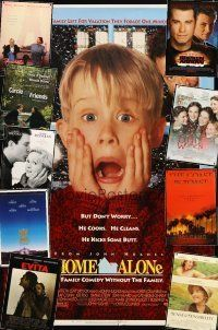 3g154 LOT OF 31 UNFOLDED MOSTLY DOUBLE-SIDED ONE-SHEETS '90 - '97 Home Alone, Evita & more!