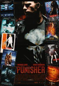 3g155 LOT OF 30 UNFOLDED MOSTLY DOUBLE-SIDED ONE-SHEETS '87 - '04 The Punisher & many more!