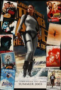 3g156 LOT OF 28 UNFOLDED MOSTLY DOUBLE-SIDED ONE-SHEETS '88 - '07 Tomb Raider & many more!