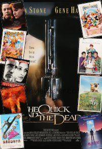 3g159 LOT OF 20 UNFOLDED MOSTLY DOUBLE-SIDED ONE-SHEETS '89 - '97 Quick & the Dead + many more!