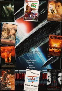 3g163 LOT OF 17 UNFOLDED MOSTLY DOUBLE-SIDED ONE-SHEETS '90 - '97 Independence Day & more!