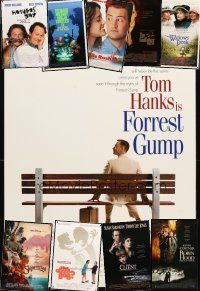 3g164 LOT OF 16 UNFOLDED MOSTLY DOUBLE-SIDED ONE-SHEETS '90-97 Forrest Gump, Godfather 3 & more!