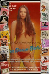 3g183 LOT OF 19 FORMERLY TRI-FOLDED SEXPLOITATION ONE-SHEETS '70s-80s great sexy images!