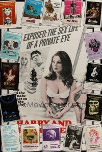 3g191 LOT OF 17 FORMERLY TRI-FOLDED ONE-SHEETS '70s-80s sexploitation, horror, comedy & more!