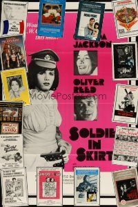3g194 LOT OF 16 FORMERLY TRI-FOLDED ONE-SHEETS '70s-80s horror, sexploitation, action & more!