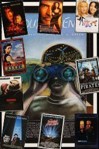 3g200 LOT OF 32 UNFOLDED ONE-SHEETS '86 - '01 South of Reno, Invaders from Mars & more!