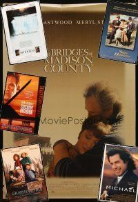 3g212 LOT OF 10 UNFOLDED ONE-SHEETS '86 - '96 Bridges of Madison County, Michael & more!