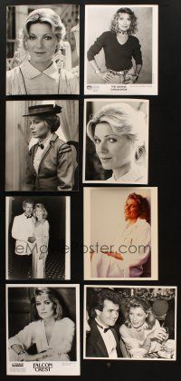 3g110 LOT OF 25 COLOR AND BLACK & WHITE MOVIE, TV & PUBLICITY STILLS OF SUSAN SULLIVAN '70s-90s