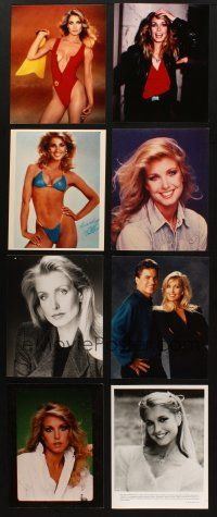 3g108 LOT OF 35 COLOR AND BLACK & WHITE MOVIE, TV & PUBLICITY STILLS OF HEATHER THOMAS '80s-90s