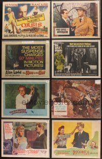 3g005 LOT OF 100 LOBBY CARDS '42 - '82 great images from a variety of different movies!