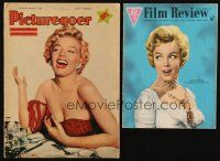 3g001 LOT OF 2 ENGLISH MAGAZINES WITH MARILYN MONROE IMAGES '56-57 Picturegoer & Film Review!