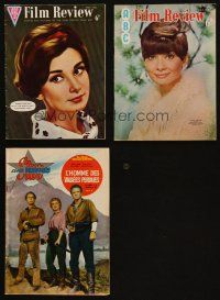 3g002 LOT OF 3 ENGLISH & ITALIAN MAGAZINES '60 - '68 two covers with Audrey Hepburn + Shane!