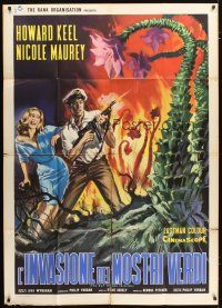 3m867 DAY OF THE TRIFFIDS Italian 1p '63 classic English sci-fi horror, different monster art!