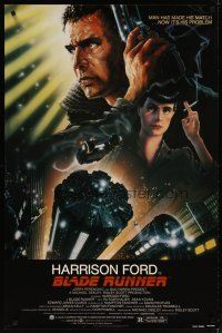 3p101 BLADE RUNNER 1sh '82 Ridley Scott sci-fi classic, art of Harrison Ford by Alvin!