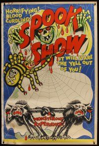 3s003 SPOOK SHOW 40x60 '50s it will scare the living yell out of you, cool artwork!