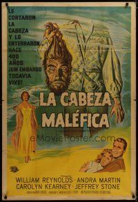 3s023 THING THAT COULDN'T DIE Argentinean '58 Giorgio art of monster holding its own severed head!