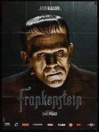 3s066 FRANKENSTEIN French 1p R08 great close up artwork of Boris Karloff as the monster!