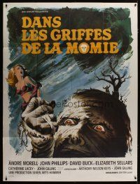 3s070 MUMMY'S SHROUD French 1p '67 Hammer horror, best different monster art by Boris Grinsson!