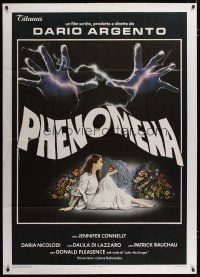 3s034 CREEPERS Italian 1p '85 Dario Argento's Phenomena, best art of Jennifer Connelly by Sciotti!