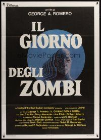 3s038 DAY OF THE DEAD Italian 1p '86 George Romero's Night of the Living Dead zombie horror sequel!