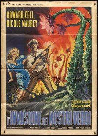 3s039 DAY OF THE TRIFFIDS Italian 1p '62 classic English sci-fi horror, different monster art!