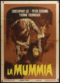 3s026 MUMMY Italian 1p R60s Hammer horror, different Piovano art of monster Christopher Lee!