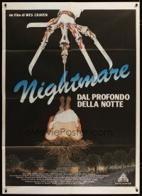 3s046 NIGHTMARE ON ELM STREET Italian 1p '85 Wes Craven, best completely different art by Mansur!