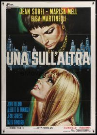 3s048 ONE ON TOP OF THE OTHER Italian 1p '69 Lucio Fulci, art of sexy Mell & Martinelli by Casaro!