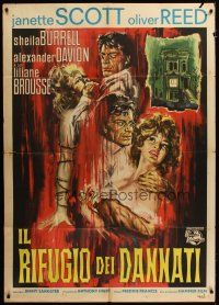 3s027 PARANOIAC Italian 1p '63 Hammer horror, Oliver Reed, completely different art!