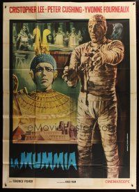 3s028 MUMMY Italian 2p R60s Hammer horror, different Piovano art of monster Christopher Lee!