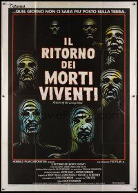 3s057 RETURN OF THE LIVING DEAD Italian 2p '85 wild completely different zombie artwork!