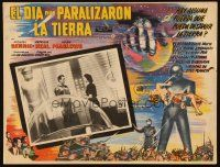 3s077 DAY THE EARTH STOOD STILL Mexican LC '51 Michael Rennie, Gort, Neal, cool border art!