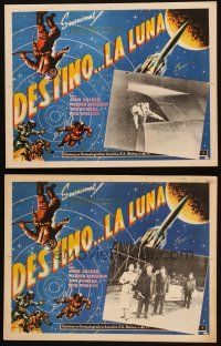 3s078 DESTINATION MOON 3 Mexican LCs R60s Robert A. Heinlein, cool different images & border art!
