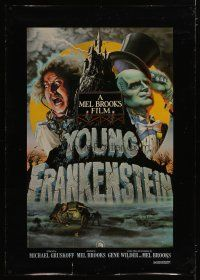 3s009 YOUNG FRANKENSTEIN special 35x49 '74 Mel Brooks, Alvin art of Wilder, Peter Boyle & Feldman!