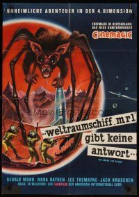3w051 ANGRY RED PLANET signed German '63 by Ib Melchior, cool art of bat-rat-spider creature!