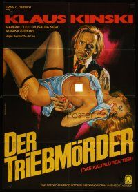 3w052 COLD-BLOODED BEAST German '71 Morf art of Klaus Kinski carrying sexy half-naked girl!
