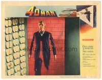 3w208 4D MAN LC #5 '59 Robert Lansing walks through walls of solid steel and stone!
