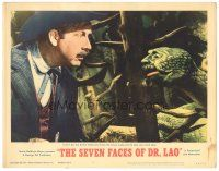 3w209 7 FACES OF DR. LAO LC #5 '64 Arthur O'Connell & the cool creepy lookalike circus snake!