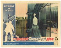 3w214 AMAZING TRANSPARENT MAN LC #7 '59 Edgar Ulmer, fx image of the invisible guy stealing money!